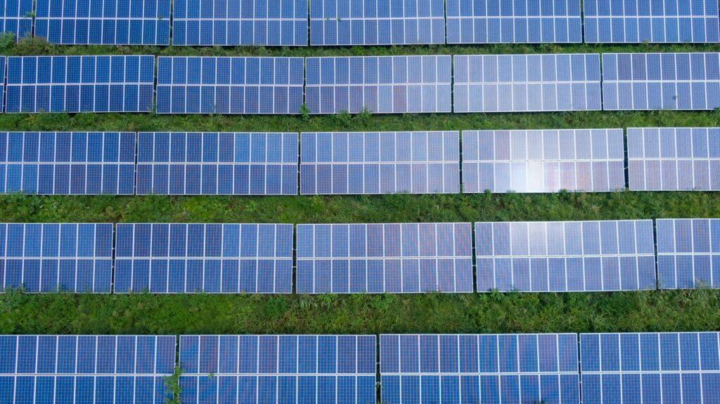 Solaranlage von oben